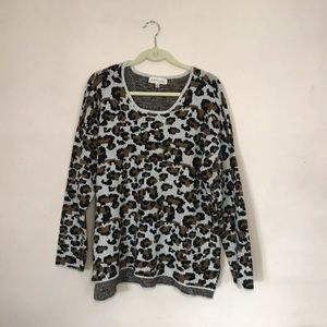 Philosophy Animal / Leopard Print Sweater XL